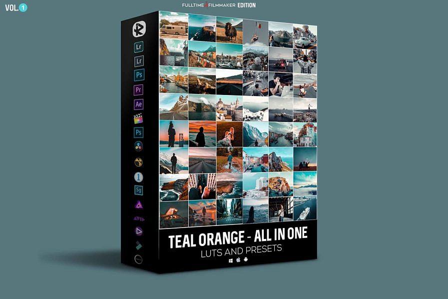 【P411】里亚兹姆最著名的青橙电影预设包 照片视频调色 Riyazmn Teal Orange And Presesets Cinematic All In One Pack