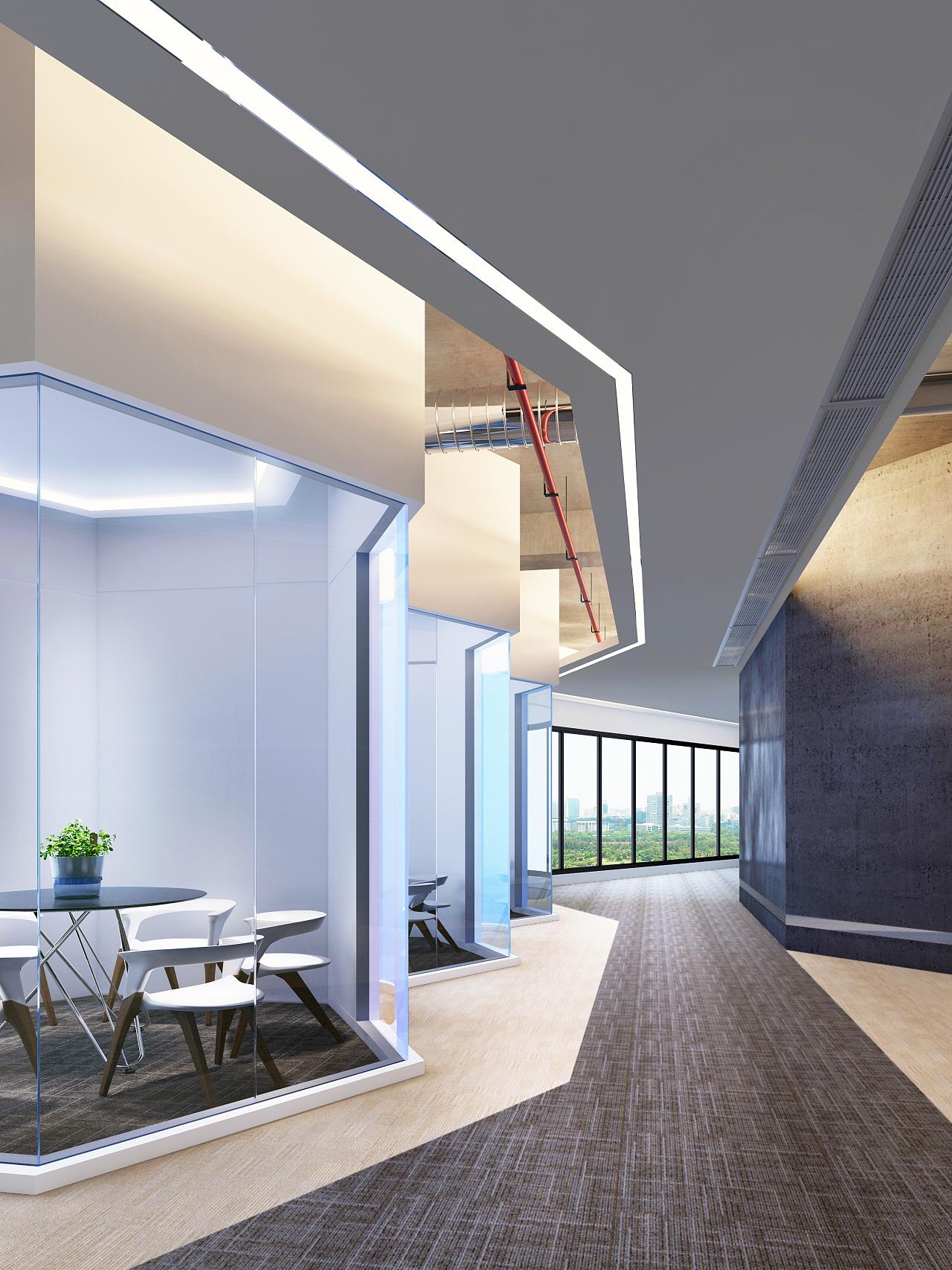 蜂巢-议会|空间|室内设计|caienji - 原创作品 - 站酷图片