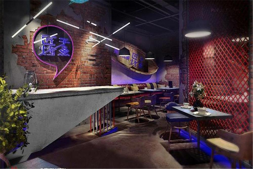 北京海口匠子烤鱼餐饮店设计案例海南海岸设计adobe字体设计软件图片