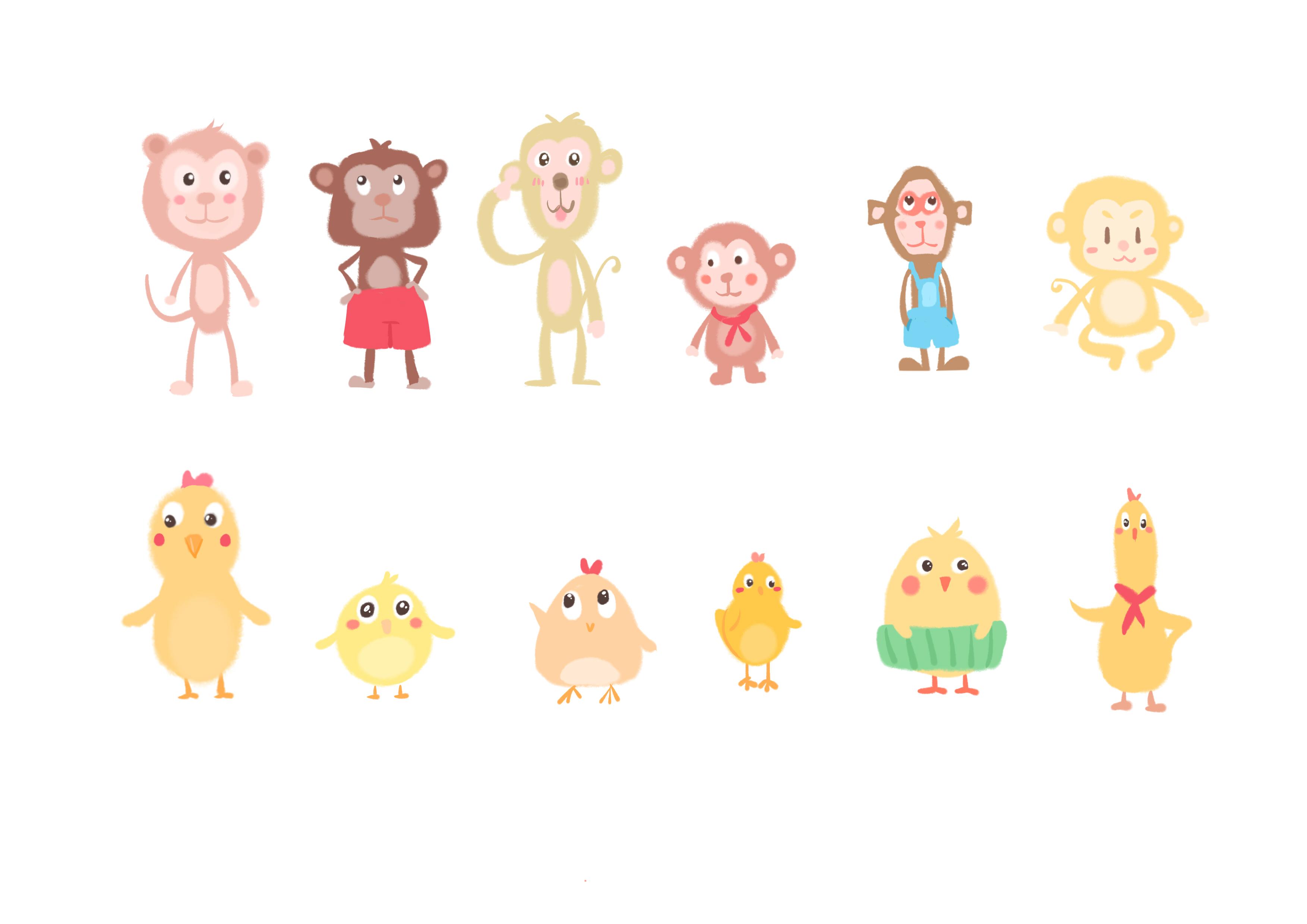 小动物造型设计