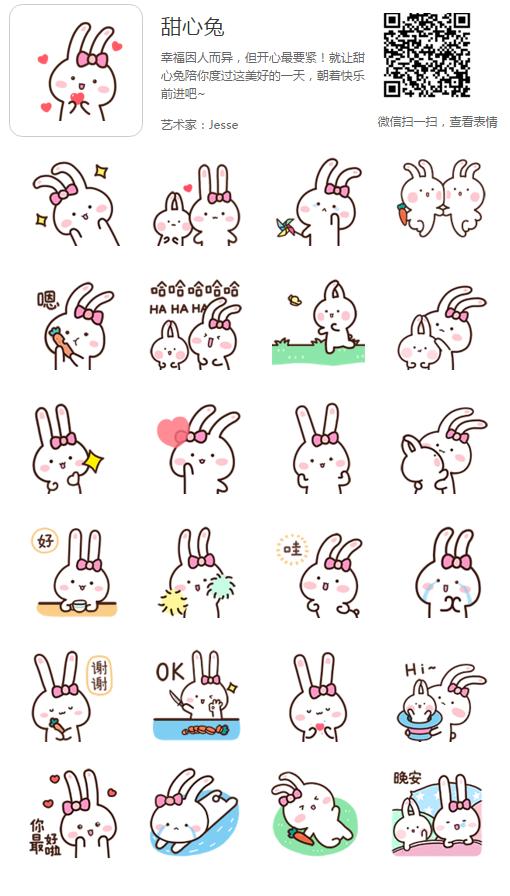 甜心兔|微信表情动态|网络表情|动漫|Jesseeeednf图搞笑砖搬格兰图片