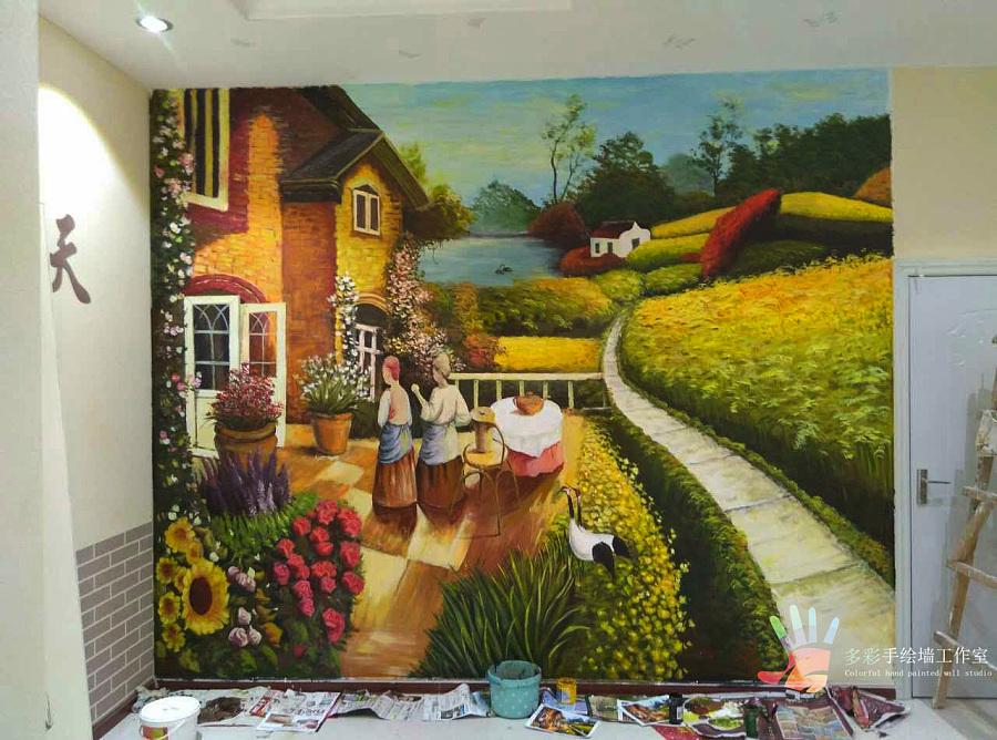 手绘墙画|墙绘/立体画|其他|布衣young
