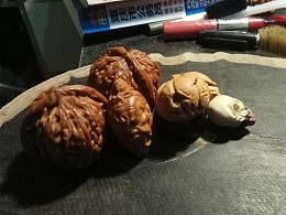 猴头核桃雕刻南瓜 橄榄核关羽