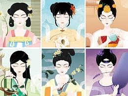 小仙女现泡花茶面膜系列插画