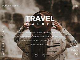 Travel Walker Website Design