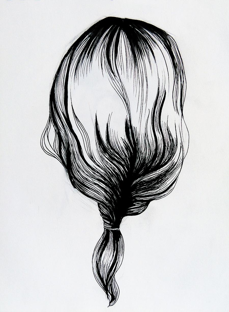 一些黑白手绘-1|绘画习作|插画|立体构成