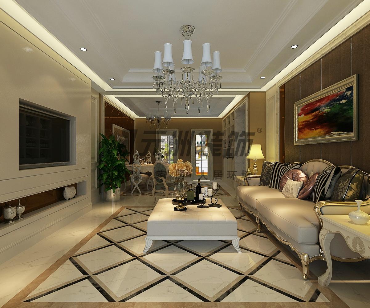 【国仕山二期装修】国仕山三室两厅157平米户型装修简欧风格时尚效果