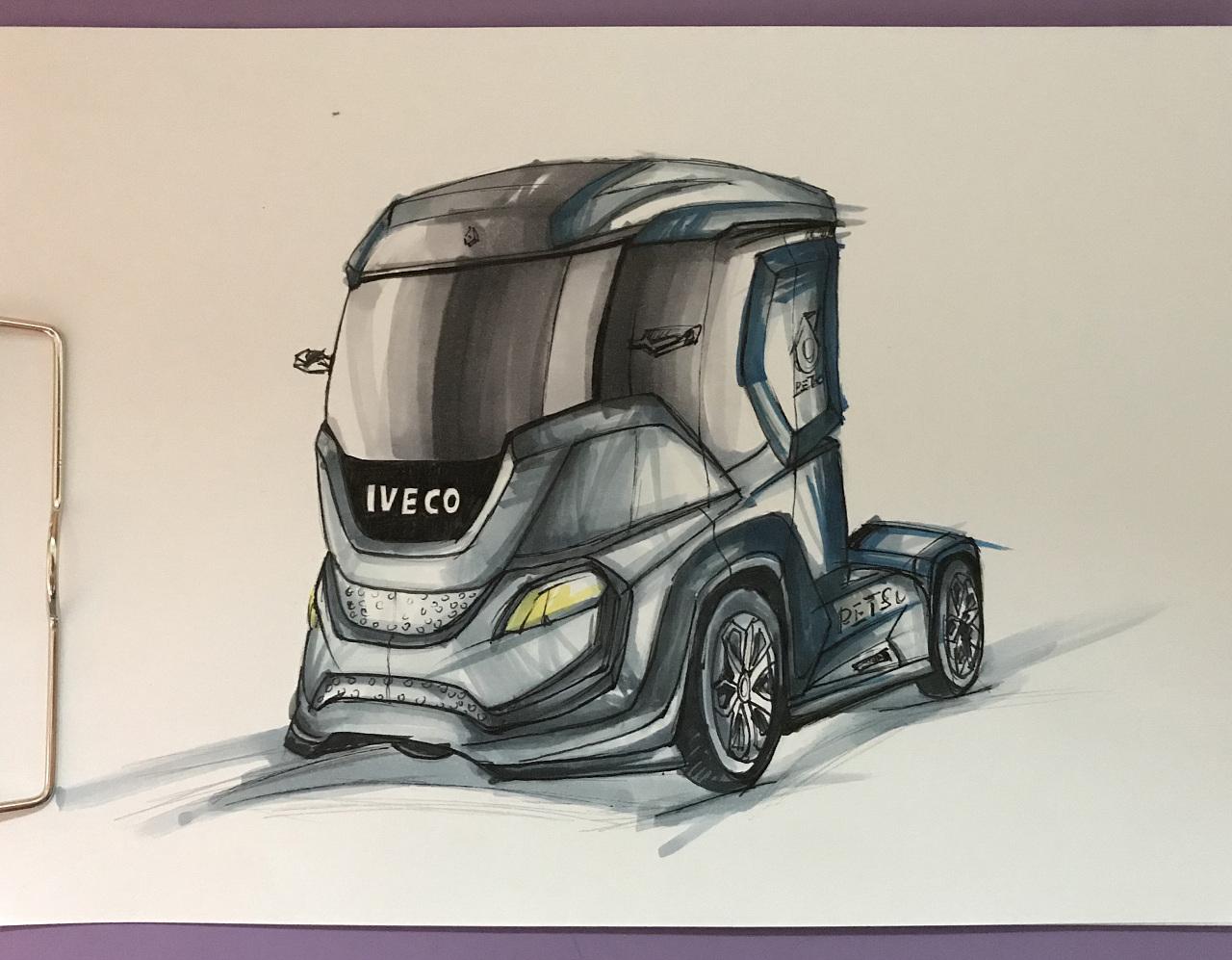 马克笔手绘|工业/产品|交通工具|目光所致 - 原创作品
