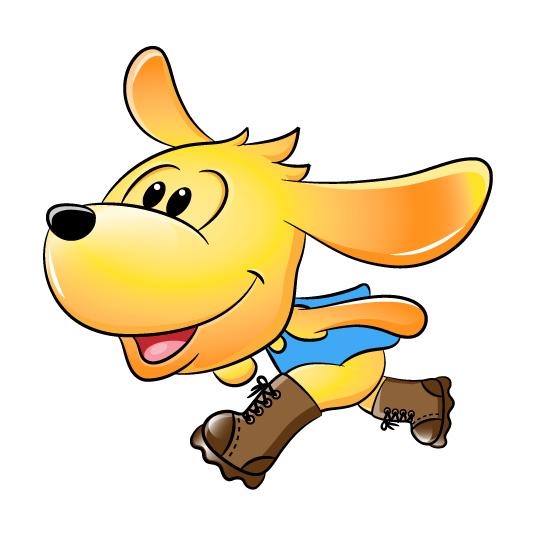 一个小狗的卡通形象