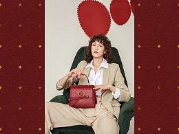 周梦怡个人商业女包设计——红新年限定款