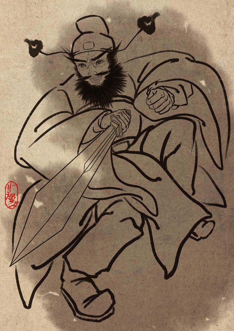 中国神话人物系列——钟馗|商业插画|插画|梦灵雪翼