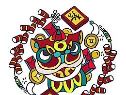 中国传统节日圆形系列-春节