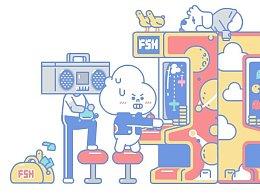 富山商店宣传插画