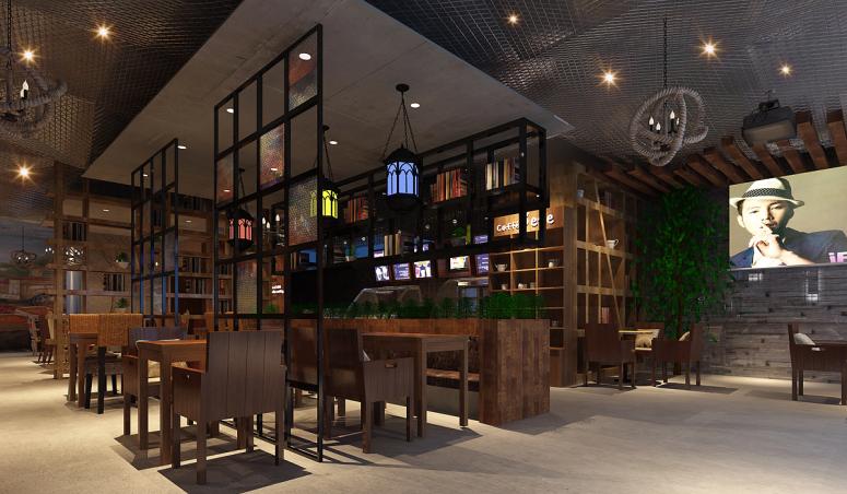 景洪专业咖啡厅装修设计公司《咖啡陪你》|室内设计