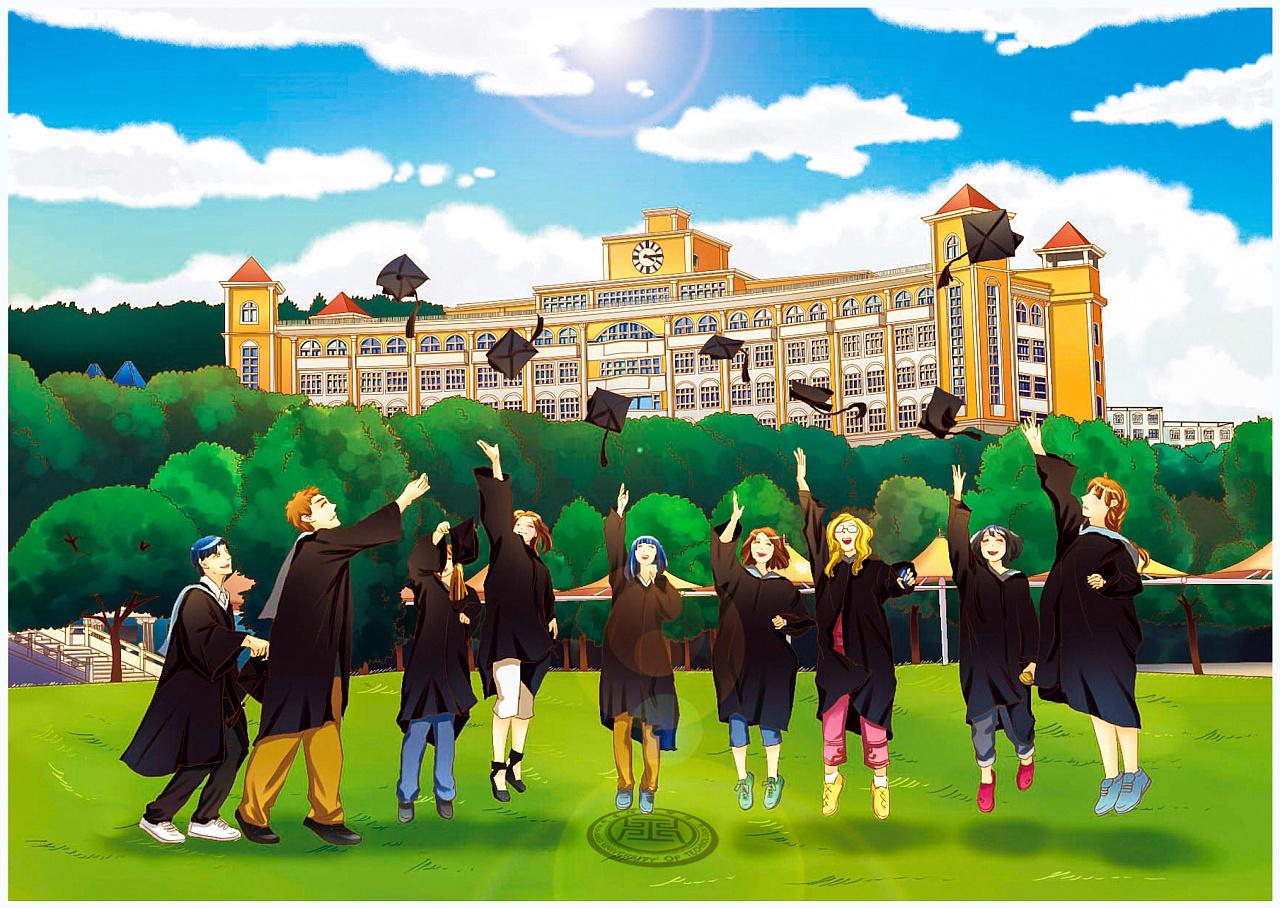 武昌理工学院漫画校园漫画粥的图图片