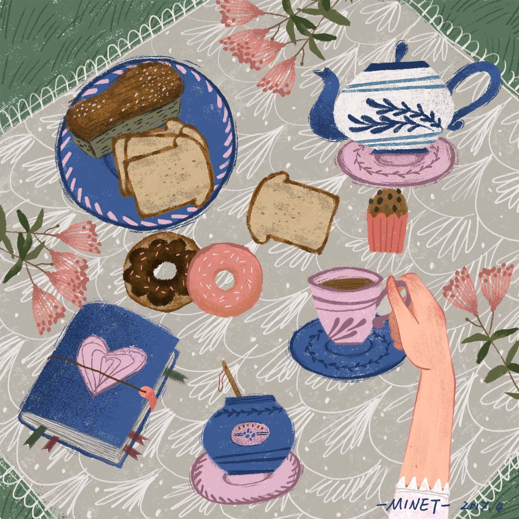 下午茶时间·手绘插画