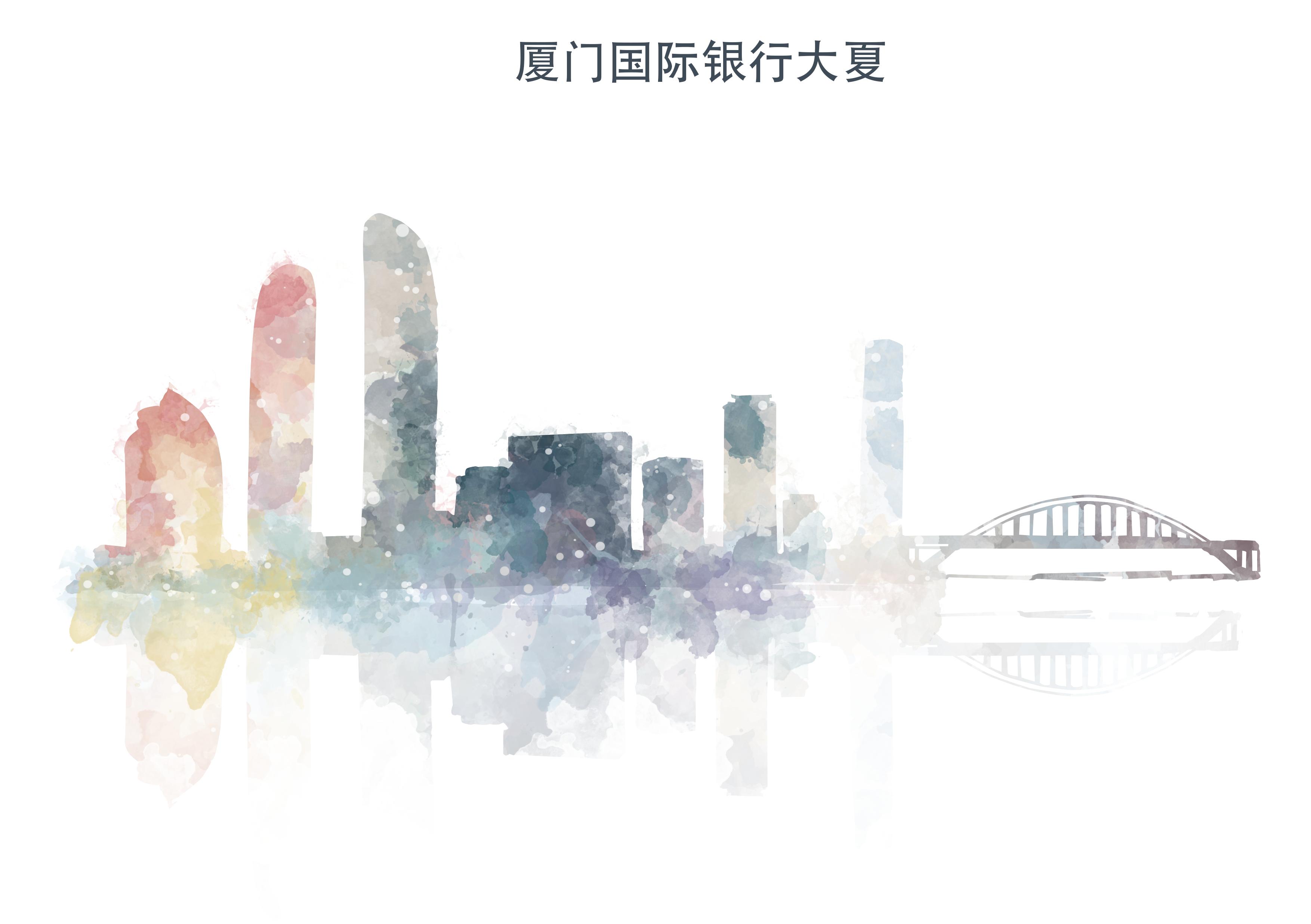 原创作品:厦门风景插画