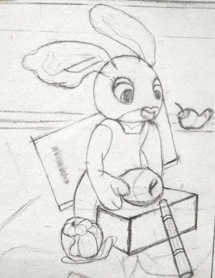 游戏图标素描,结构素描,卡通素描