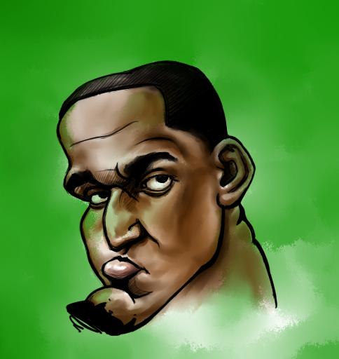 看罗休女人_nba球员漫画头像 |肖像漫画|动漫|罗休特 - 原创设计