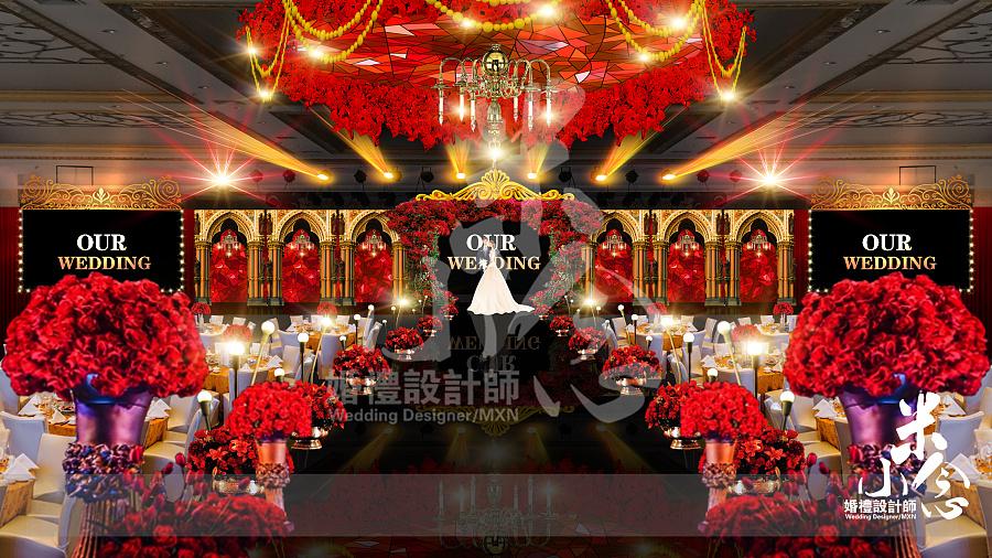 欧式婚礼-psd效果图|舞台美术|空间/建筑|0米小念0