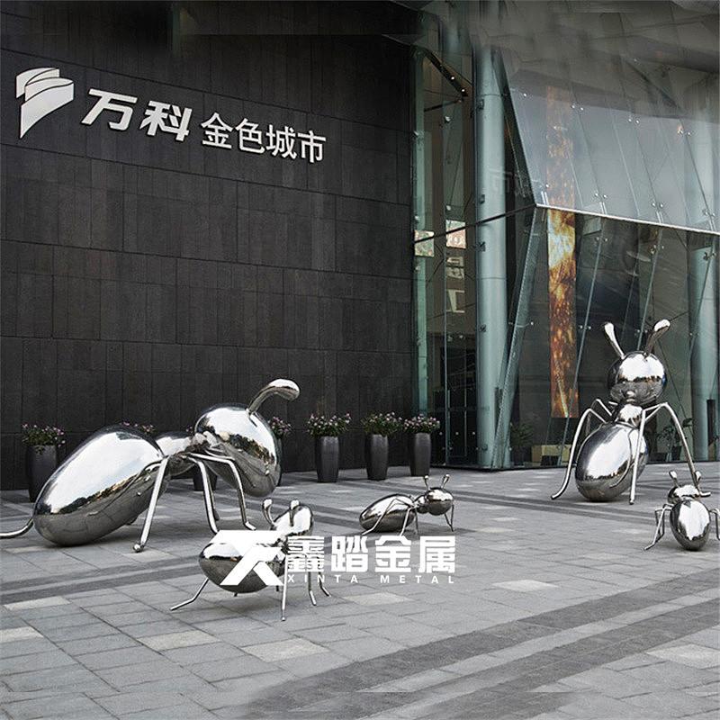 动物雕塑 城市景观雕塑小品摆件 不锈钢蚂蚁雕塑