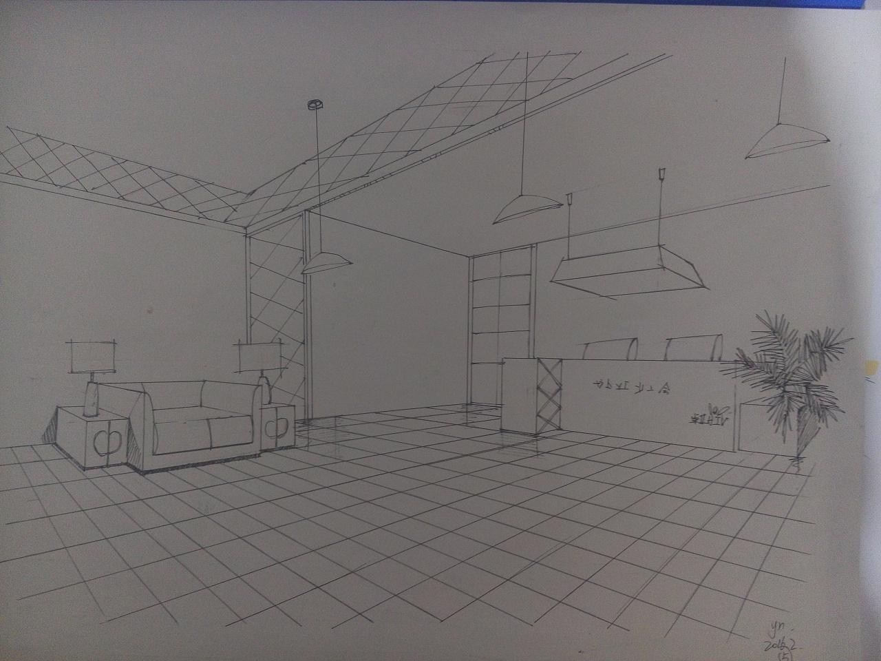 室内手绘练习作品|空间|室内设计|a小鱼 - 原创作品