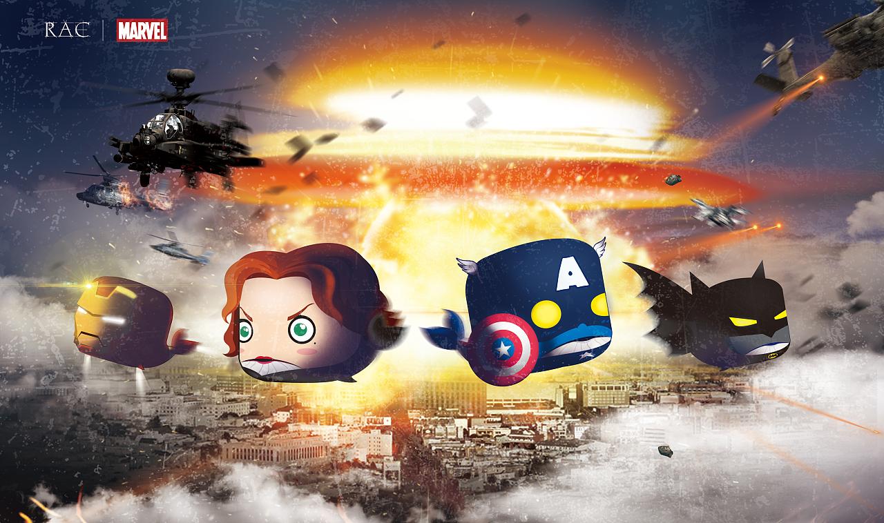 鲸鱼版超级英雄 霸气海报版