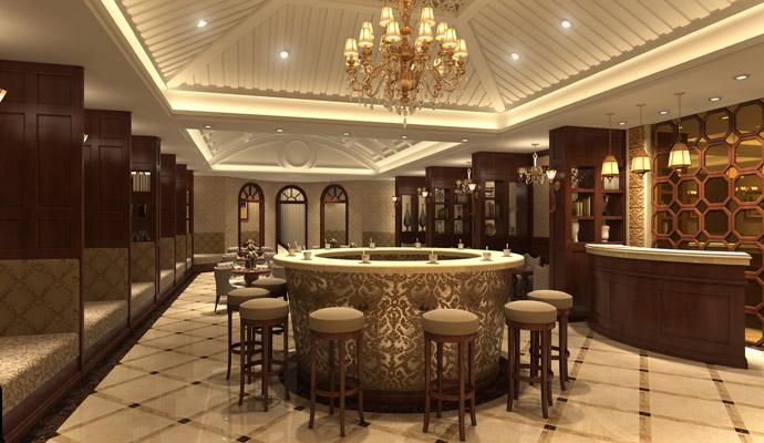 个旧茶楼设计丨古镇中式茶楼设计装修|室内设计|空间