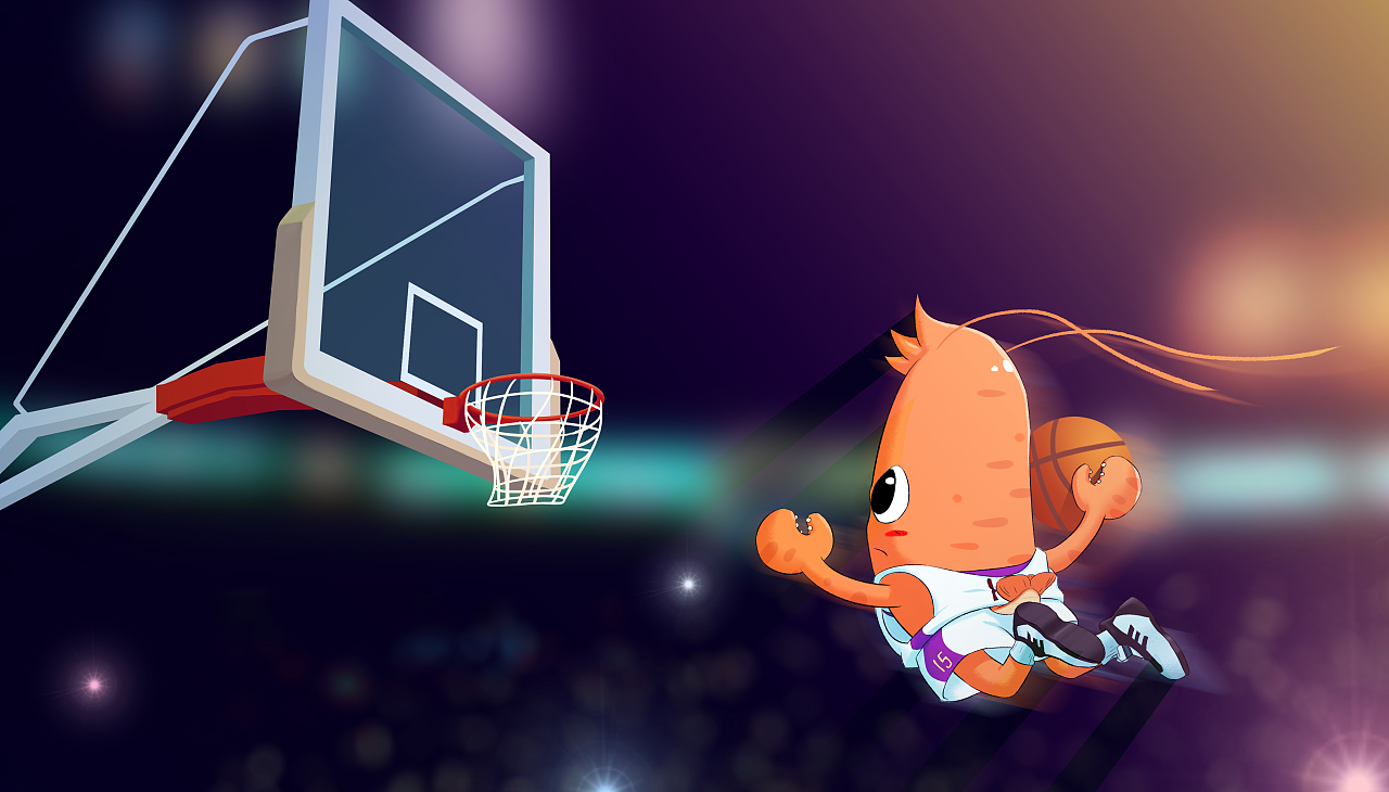 篮球主题卡通龙虾商业海报|插画|商业插画|刘翰图片