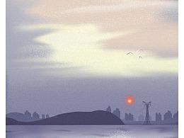 七月情绪小插画