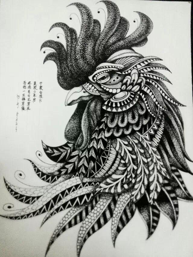 针管笔 黑白 手绘动物 第一弹