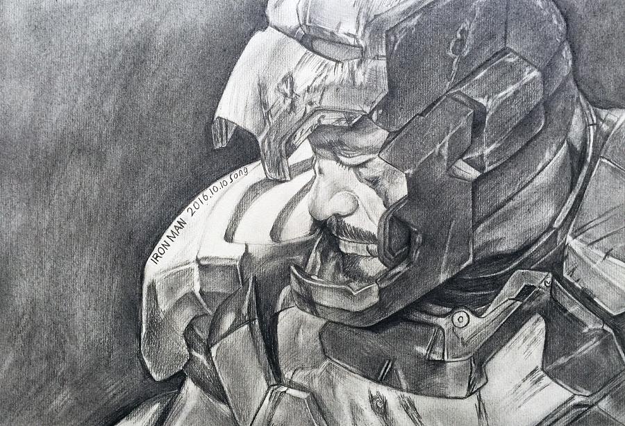 素描钢铁侠|像素画|插画|立立思思 - 原创设计作