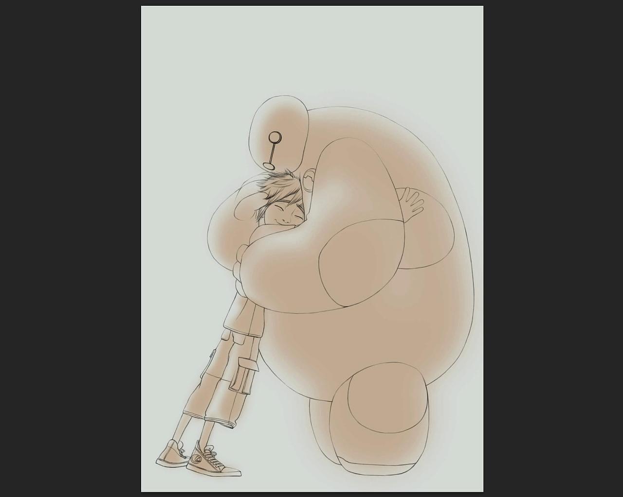 教你ps手绘:迪士尼·超能陆战队|插画|插画习作|涂鸦