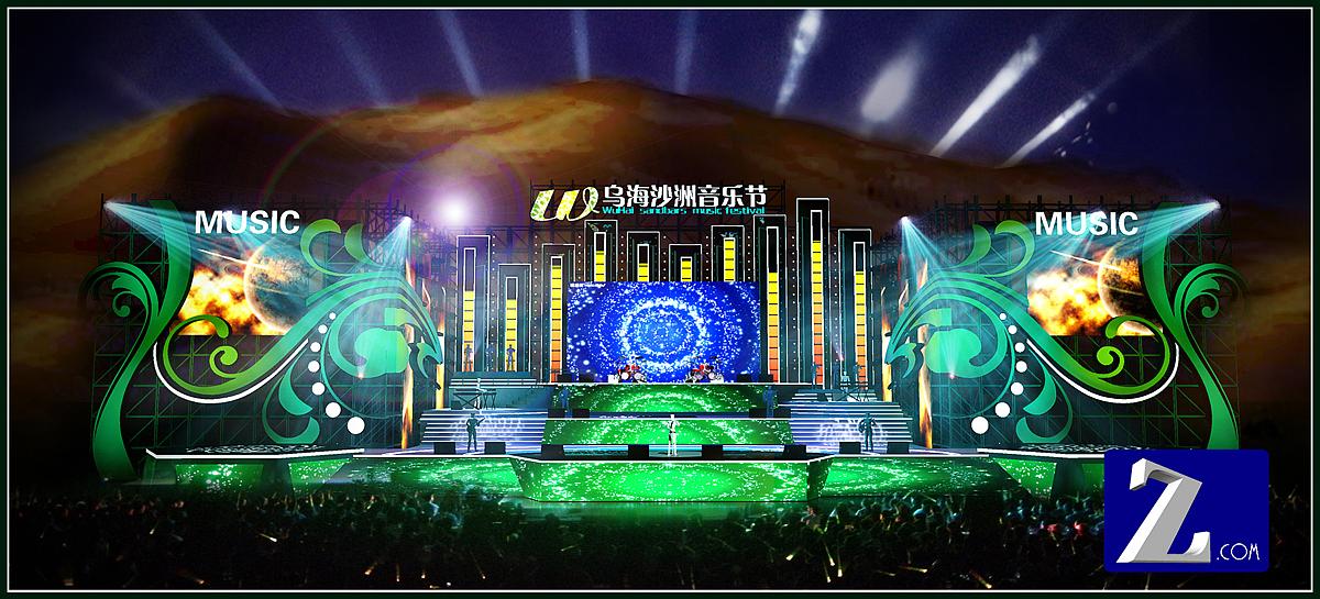 沙洲音乐节|空间|舞台美术|zhuyin6 - 原创作品图片
