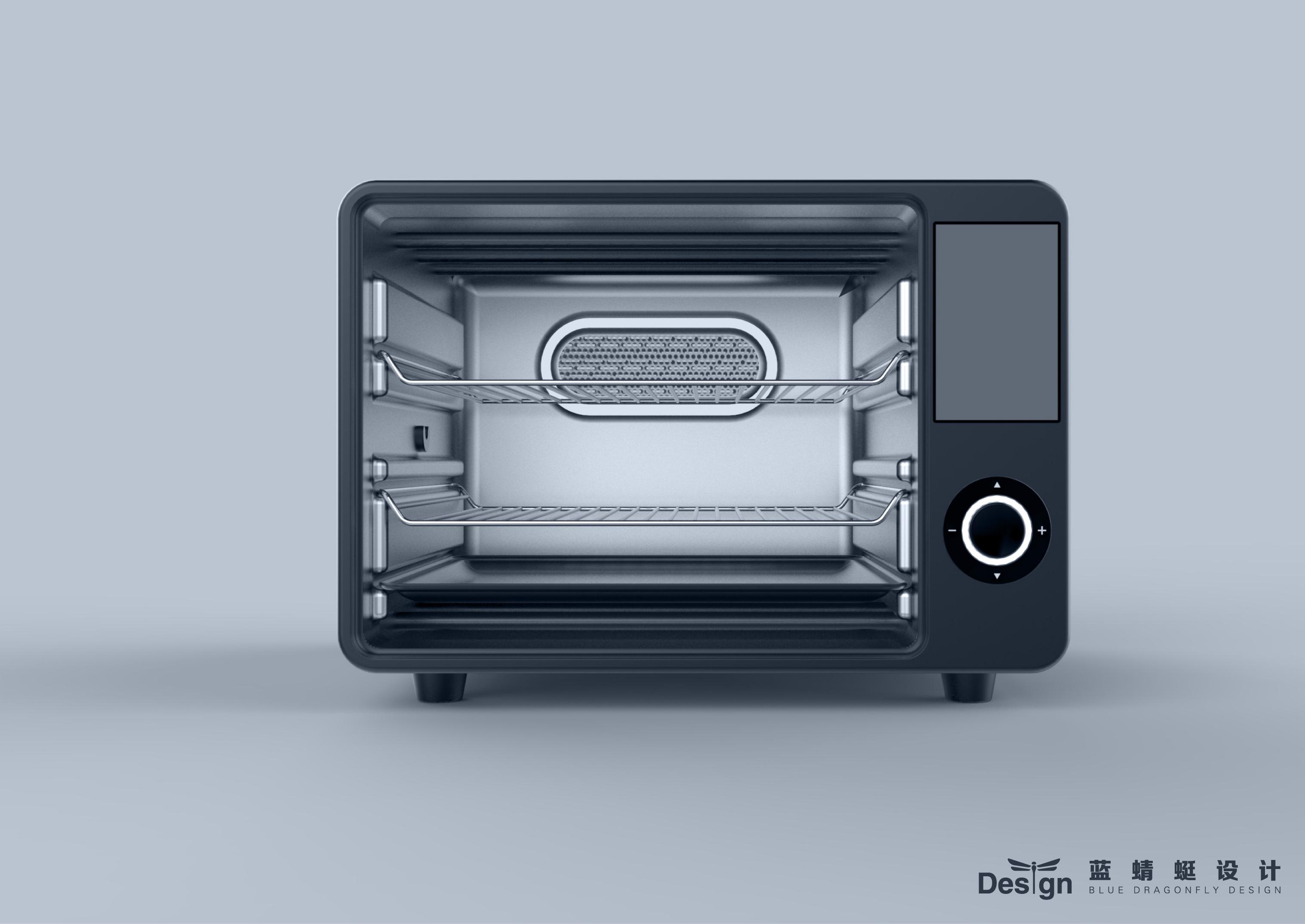 一般的烤箱烤食物都容易将表面烤焦,而里面也比较干涩,无论是口感还是营养都遭到破坏。借鉴中华千年美食文化无菜不蒸的特点想到了能不能在烤箱中加入蒸汽的概念。该烤箱使用蒸汽和独特的热控制系统,达到接近完美的烤制效果。在烘烤的第一阶段,由于蒸汽的加入,食物的外层可以迅速烘烤,蒸汽则保持食物内的水分和香味,可以实现恰到好处的外酥里嫩口感。这样蒸烤出来的食物,外观色泽金黄美观,在热控制系统监控下,温度也可以自由调节不会烤糊食材表层。独特的设计让烤箱的功能得到拓展,对于很多食品都有能达到很好的烤制效果。