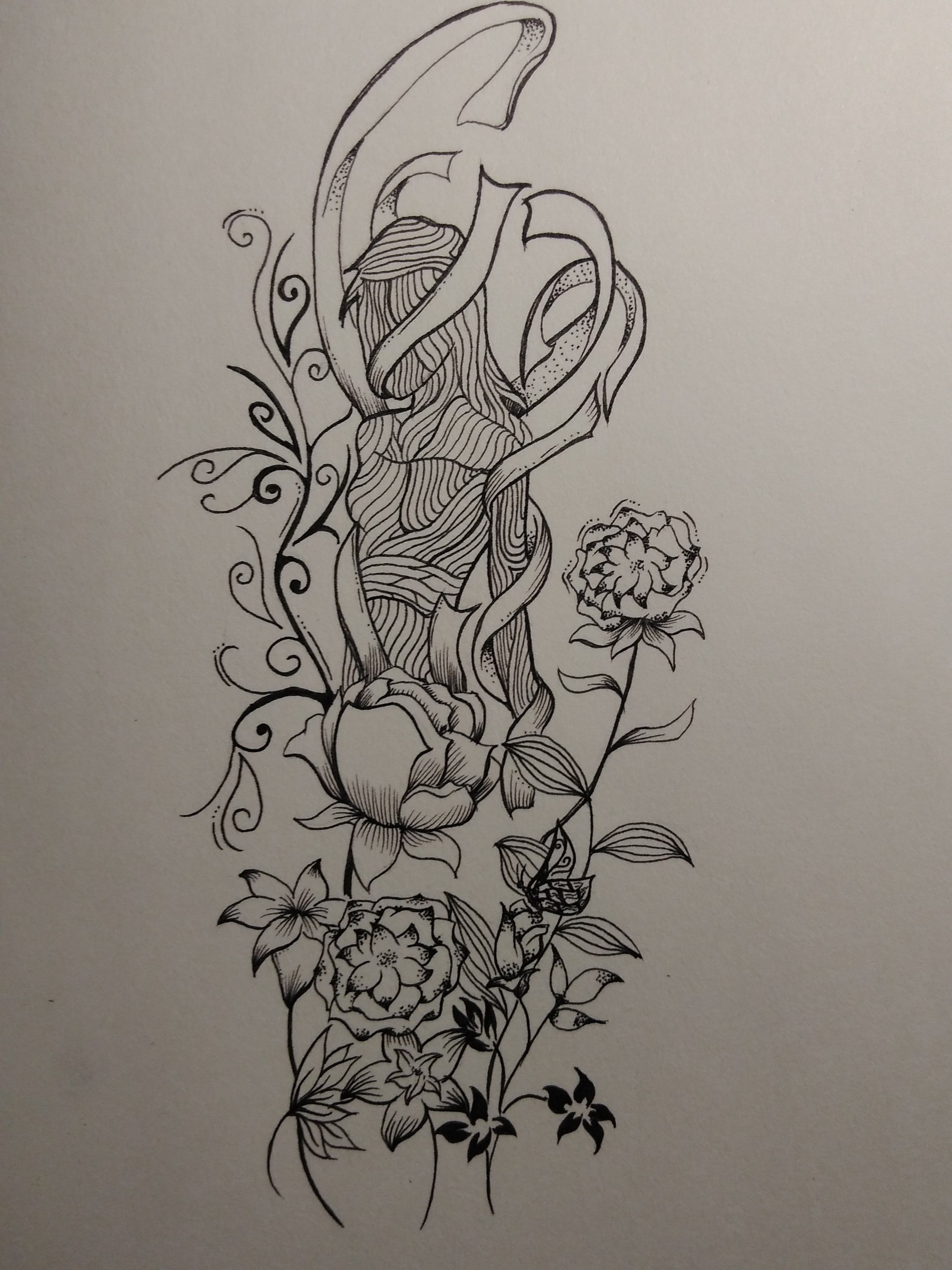 黑白壁纸图片 手绘