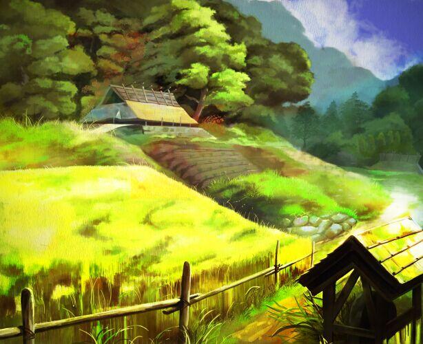 日漫手绘风景图