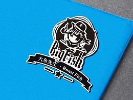 大鱼先生BIGFISH标志设计
