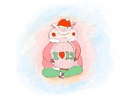 圣诞小猪期待拥抱2019❤️❤️