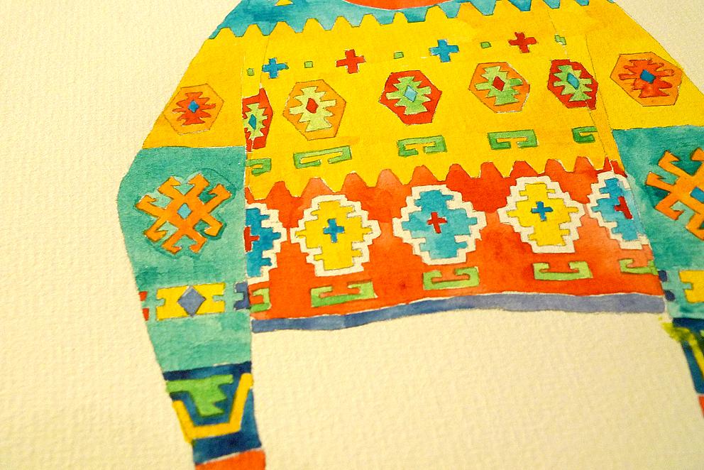 水彩手绘-毛衣