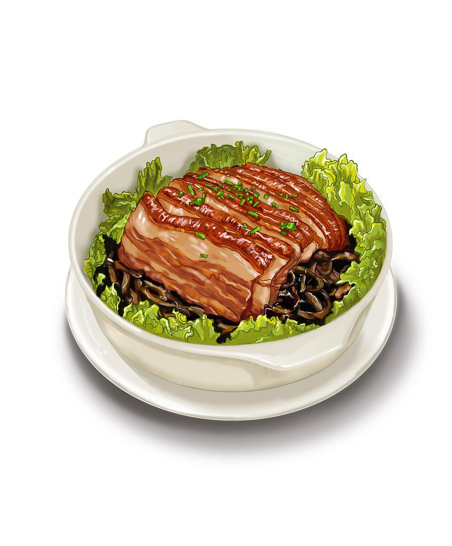 手绘广东美食菜色