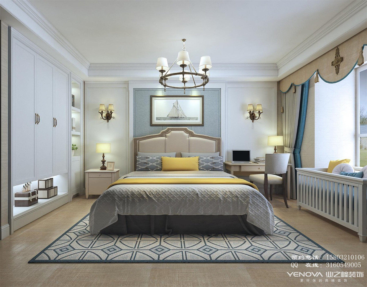 石家庄保利拉菲灰色装修设计-137平美式颜色装修设计公馆风格与厨柜台面图片