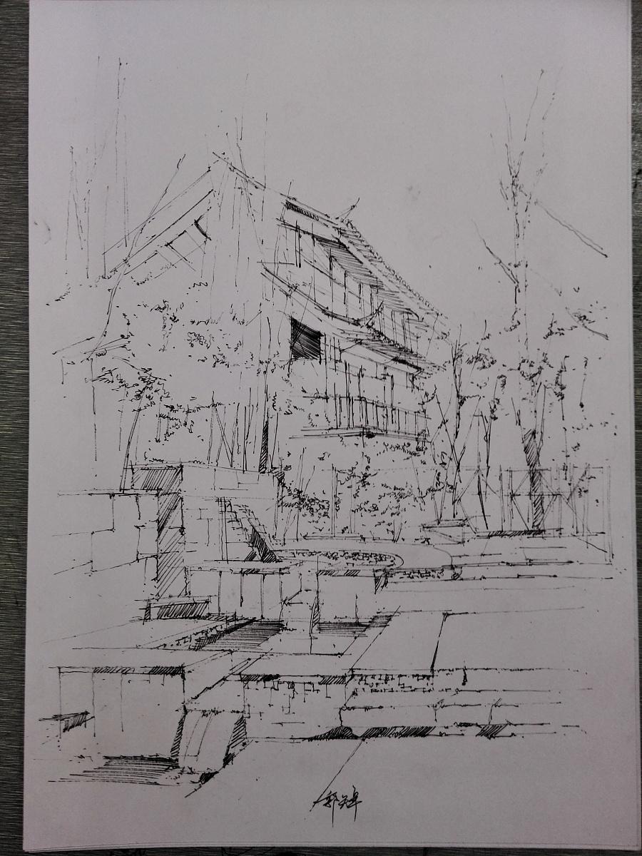 马克笔风景|园林景观/规划|空间/建筑|kedazhuo