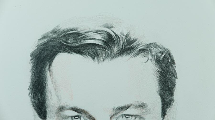 彩铅画人物:莱昂纳多|彩铅|纯艺术|蔡广庆