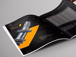 产品画册 工厂画册 机械画册 工业画册 齿轮画册 黑色