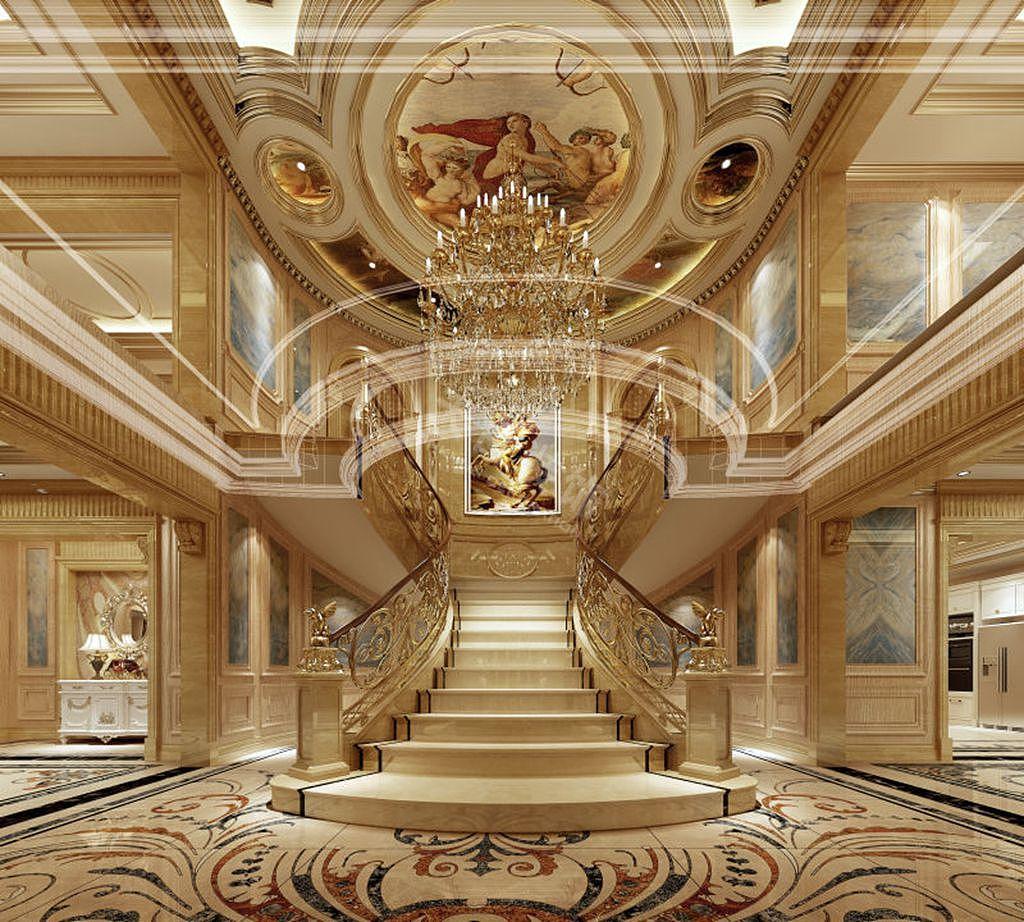 融创玫瑰园装修丨礼嘉玫瑰园独栋别墅设计效果图 天古设计师唐春