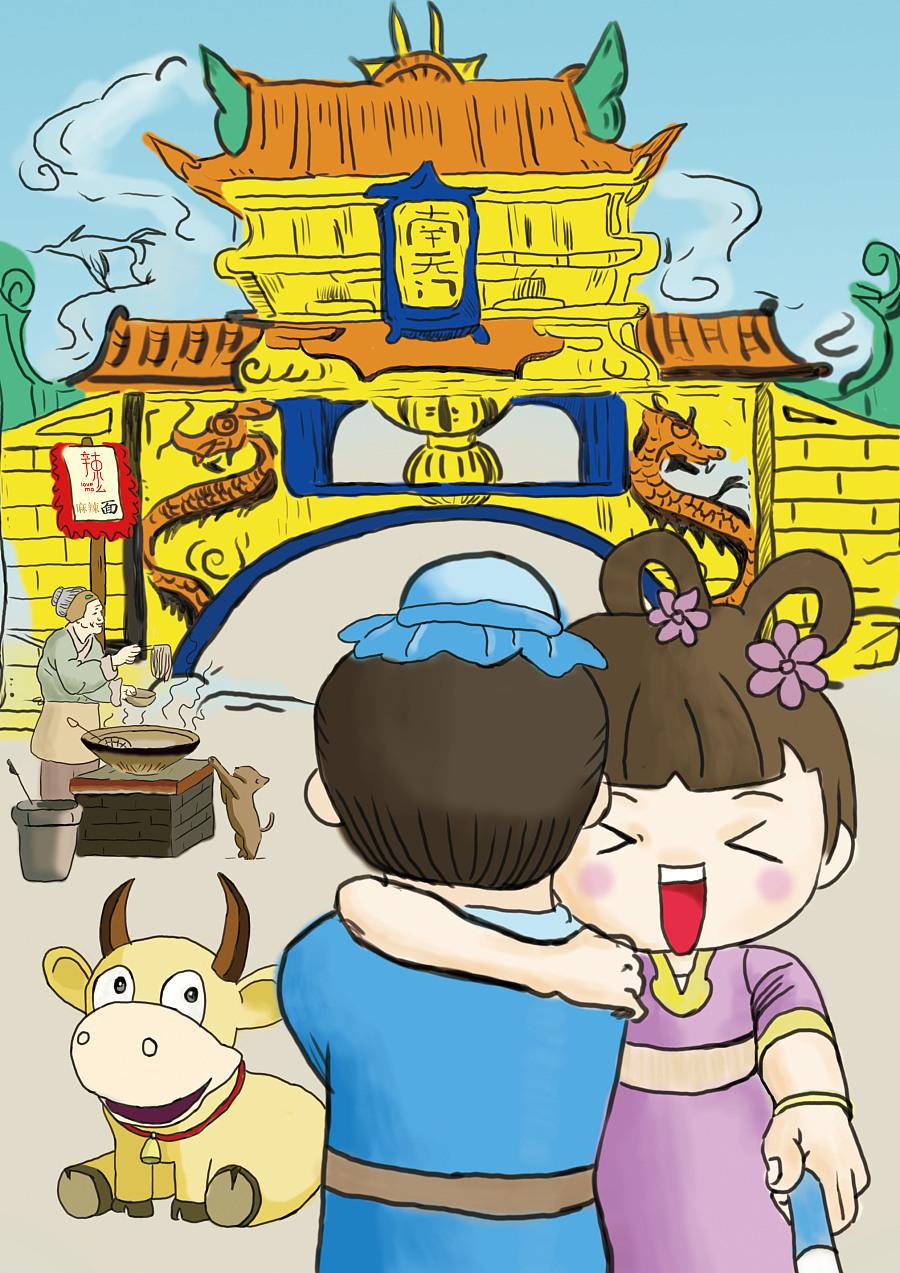 七夕海报手绘插画|商业插画|插画|觉醒设计 - 原创