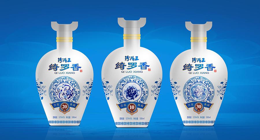 青花瓷酒青花瓷景观提成花矢量包装设计海项目设计师蓝色比例花朵图片