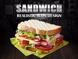 PS写实图标绘制—Sandwich三明治
