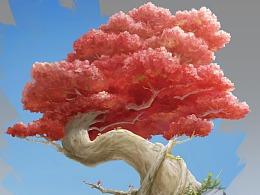 小景练习-一棵树